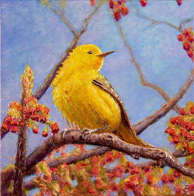 Painting - Yellow Warbler by Joe Bergholm