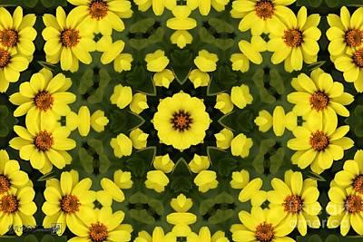Digital Art - Yellow Zahara Mandala by J McCombie