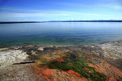 Photograph - Yellowstone Lake Colors by Frank Romeo