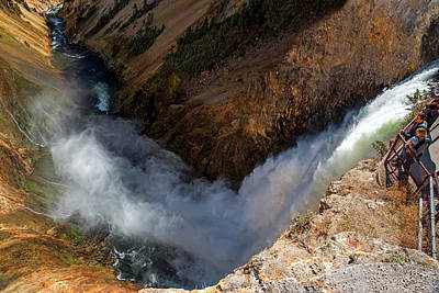 Photograph - Yellowstone Lower Falls by Alex Galkin