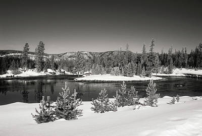 Photograph - Yellowstone River In Winter by L O C