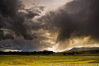 Yellowstone Sky Art Print by Patrick  Flynn