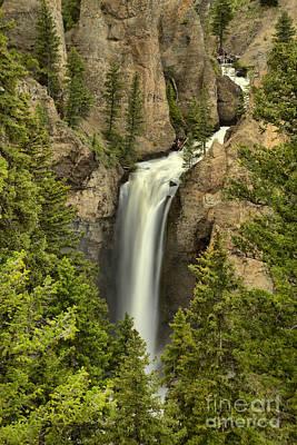 Photograph - Yellowstone Tower Falls 2018 by Adam Jewell