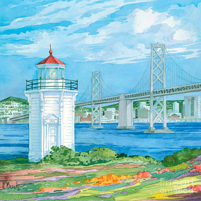 Lookout Painting - Yerba Buena Lighthouse by Paul Brent