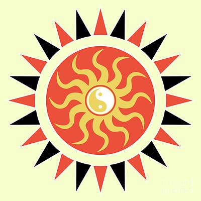 Yin Yang Sunshine Art Print