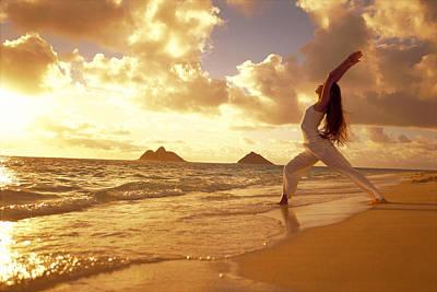 Yoga At Sunrise Art Print by Dana Edmunds - Printscapes