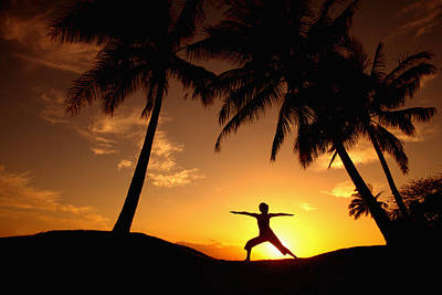 Photograph - Yoga At Sunset by Ron Dahlquist - Printscapes
