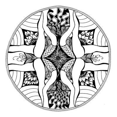 Drawing - Yoga Series #2 by Jan Steinle