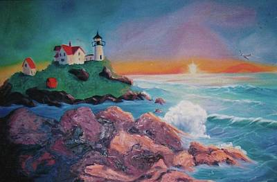 York Beach Maine Print by Suzanne  Marie Leclair