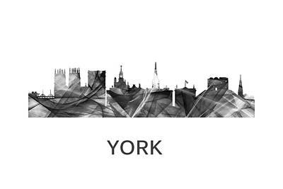 Digital Art - York Skyline England by Marlene Watson