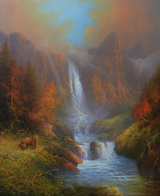 Yosemite Bridal Veil Falls Original by Joe Gilronan