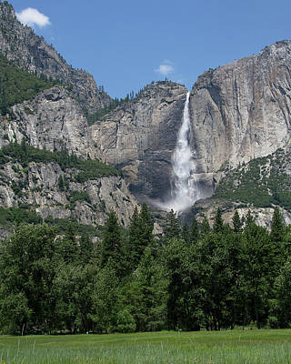 Yosemite Falls - California Art Print by Brendan Reals