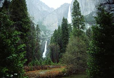 Photograph - Yosemite Falls, by Bernard Lynch