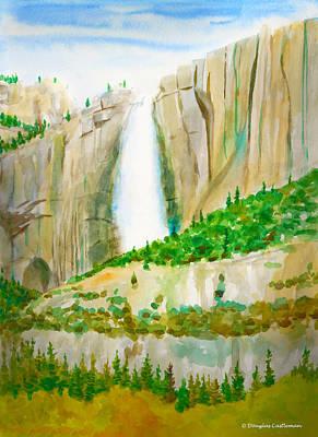Painting - Yosemite Falls by Douglas Castleman