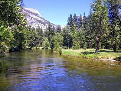 Photograph - Yosemite Lazy River by Richard Yates