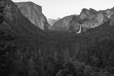 Photograph - Yosemite Valley Black And White  by John McGraw