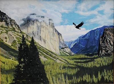 El Capitan Painting - Yosemite Valley by Paul Larson