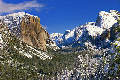 Yosemite Np Photograph - Yosemite Valley- Tunnel View by Floyd Hopper