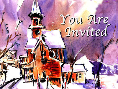 Dinner Party Invitation Painting - You Are Invited by John Dunn
