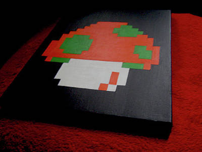 Videogames Painting - You Only Get 1up by Infinite