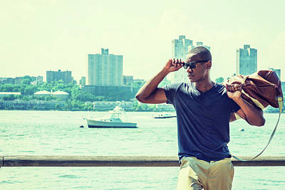 Photograph - Young African American Man Traveling In New York 17061821 by Alexander Image