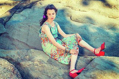Photograph - Young American Woman Summer Fashion In New York by Alexander Image
