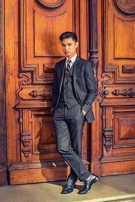 Photograph - Young Asian American Business Man In New York by Alexander Image