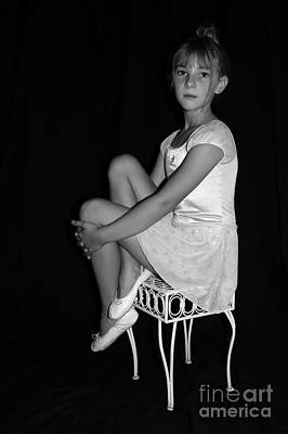 Photograph - Young Ballerina  by Tamyra Crossley
