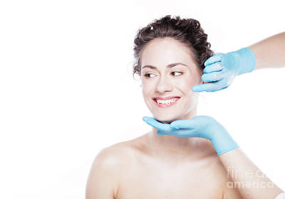 Photograph - Young Beautiful Woman's Skin Review Before Treatment. by Michal Bednarek