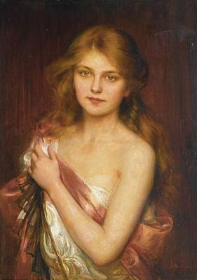 Young Beauty Art Print by Albert Lynch