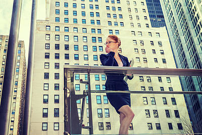 Photograph - Young Businesswoman In New York by Alexander Image