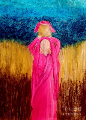 Young Girl Giving Prayer Art Print