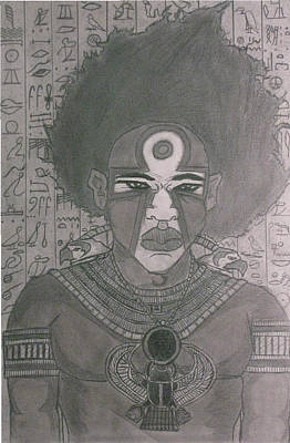 Nubia Mixed Media - Young Kheperu by Derrick Colter