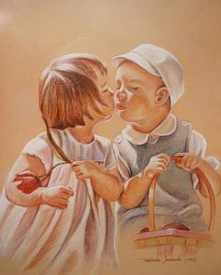 Painting - Young Love  by Melinda Saminski