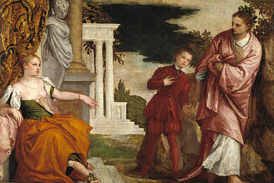 Parable Painting - Young Man Between Vice And Virtue by Paolo Veronese