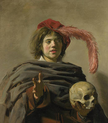 Painting - Young Man With A Skull by Frans Hals