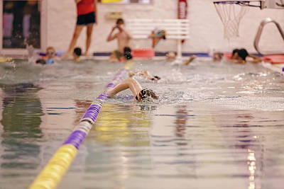 Photograph - Young Swimmer by Peter Lakomy