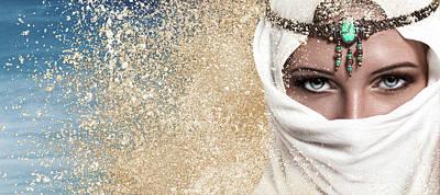 Young Woman Arabic Style Fashion Look Art Print