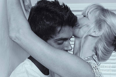 Photograph - Younger Man Making Out With Older Woman by Amyn Nasser