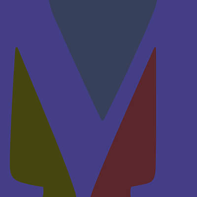 Digital Art - Your Name - M Monogram by Attila Meszlenyi