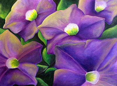 Your Presence Soothes Me - Petunia Original by Heidi Douhab