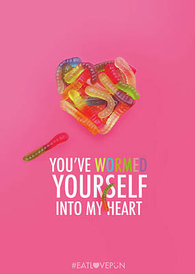 Gummy Digital Art - You've Wormed Yourself Into My Heart by Vincent Lee