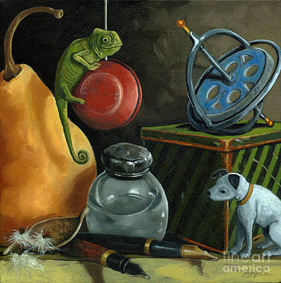 Yoyos Painting - Yoyo by Linda Apple