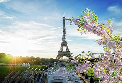 Photograph - Spring Sunrise In Paris by Anastasy Yarmolovich