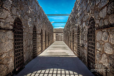 Southwest Gate Photograph - Yuma Territorial Prison by Robert Bales