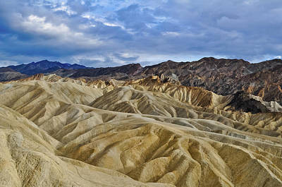 Photograph - Zabriskie Point Death Valley Badlands by Kyle Hanson