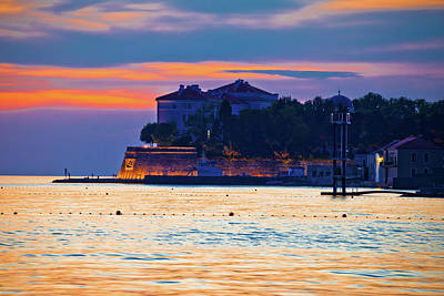 Photograph - Zadar Waterfront At Golden Sunset View by Brch Photography