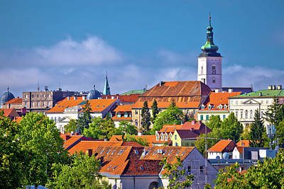 Photograph - Zagreb Historic Upper Town Skyline View by Brch Photography