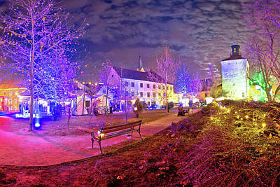 Photograph - Zagreb Upper Town Christmas Market Evening View by Brch Photography