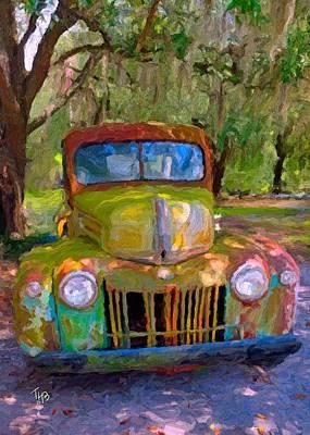 Painting - Zam's Truck by Tammy Lee Bradley